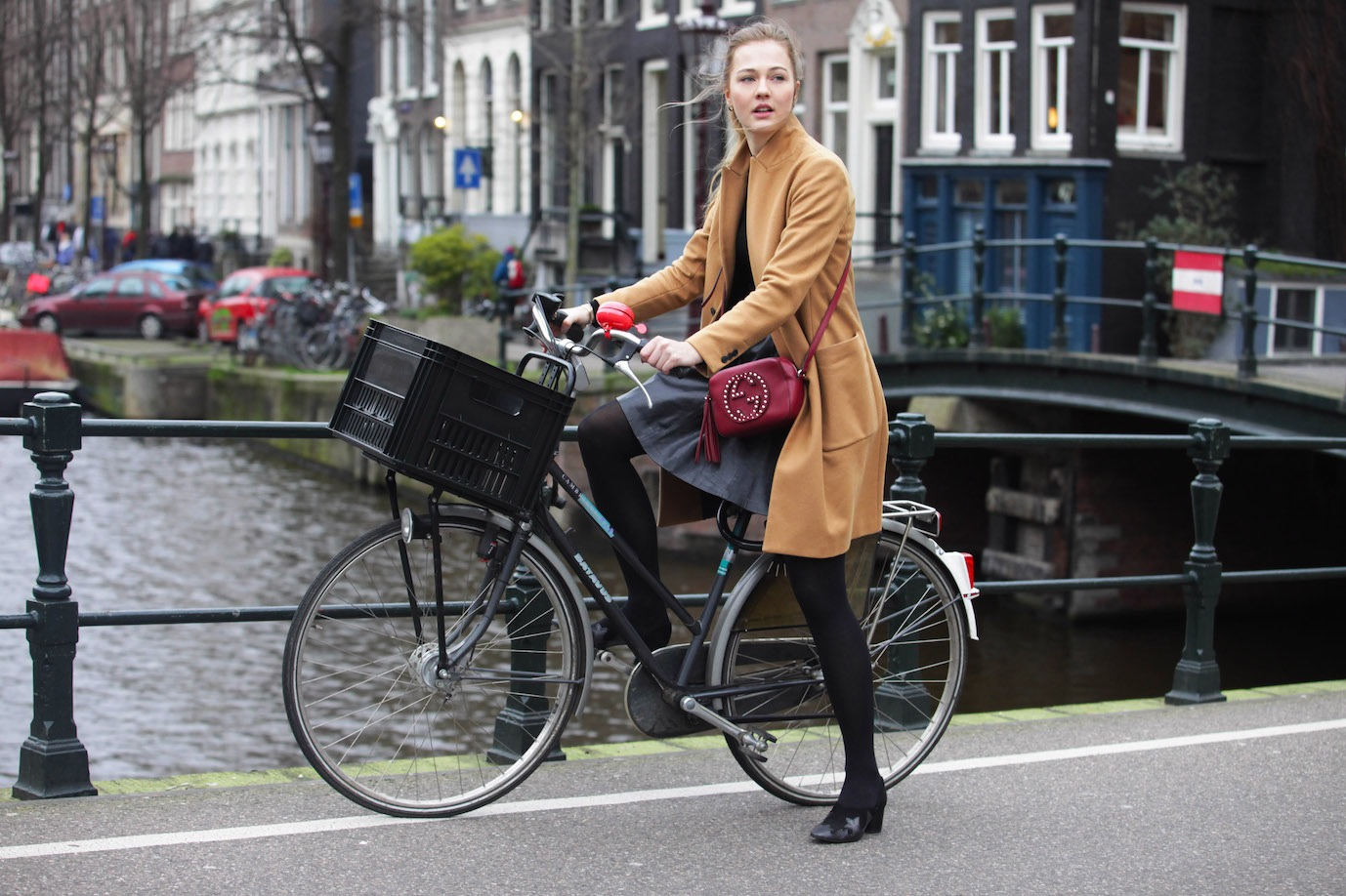 Floortjeloves, Plan78, plan78 photography, model, modeling, photography, bike, do you ride my bicycle, bicycle, camel coat, leather skirt, gucci, gucci bag, wolford