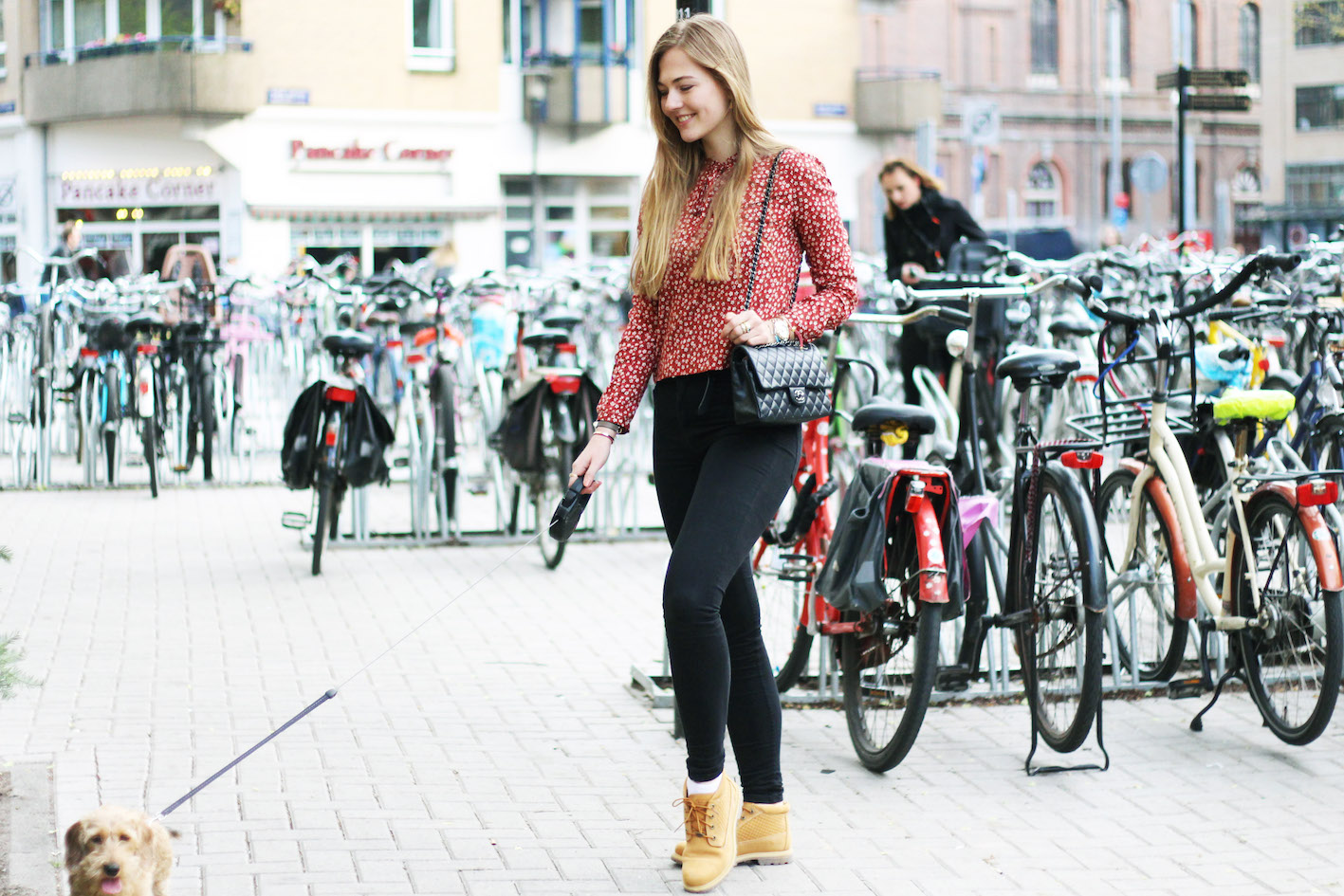 floortjeloves, city of bikes, Timberland, timberlands, won hundred, choies, chanel, chanel bag, fien, amsterdam, bikes, flowers, red
