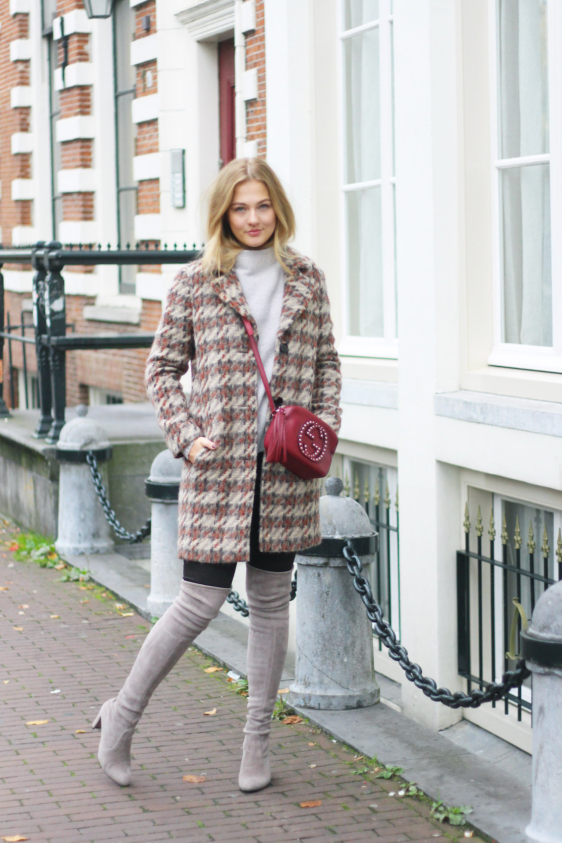 floortjeloves, 5 winter essentials, winter essentials, knee boots, stuart weitzman, gucci, comma, ginger, leather pants, leather trousers
