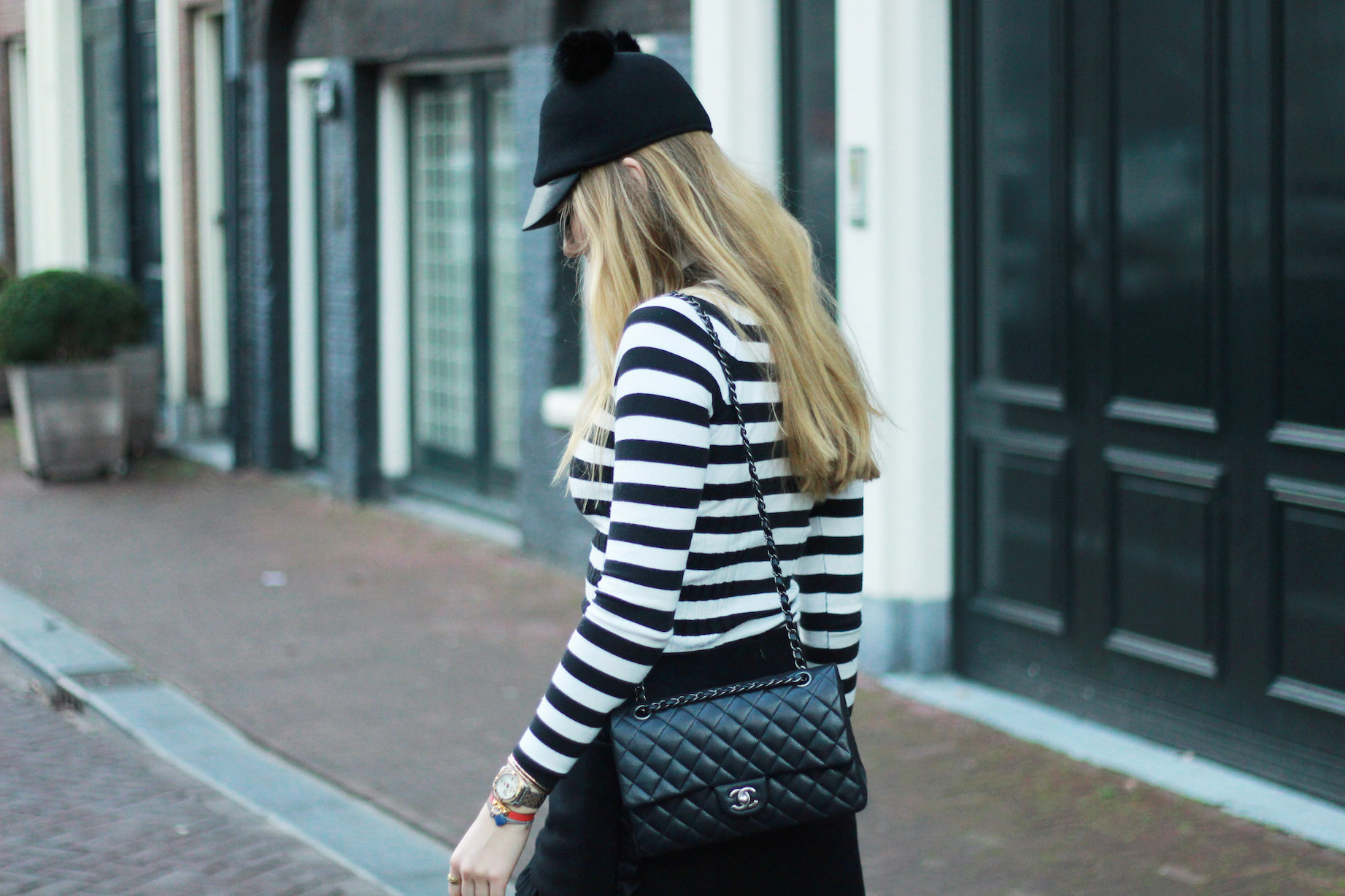 floortjeloves, micket, wolford, cos, zara, asos, H&M, the difference between dreaming and doing, dreaming and doing, chanel, chanel classic, chanel bag, stripes