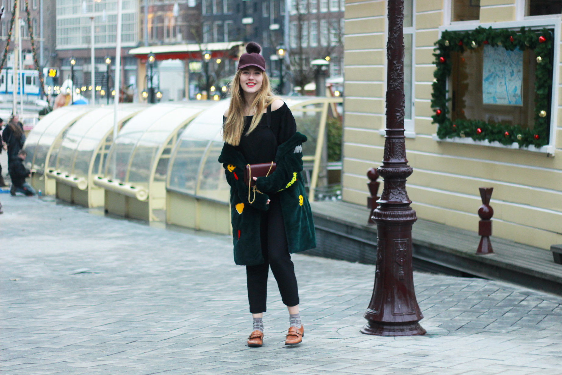 floortjeloves, teddy coat, why you should set goals, choies, wolford, comma, H&M, cap, jumpsuit, off shoulder, off-the-shoulder, off-shoulder, mulberry, mulberry bag