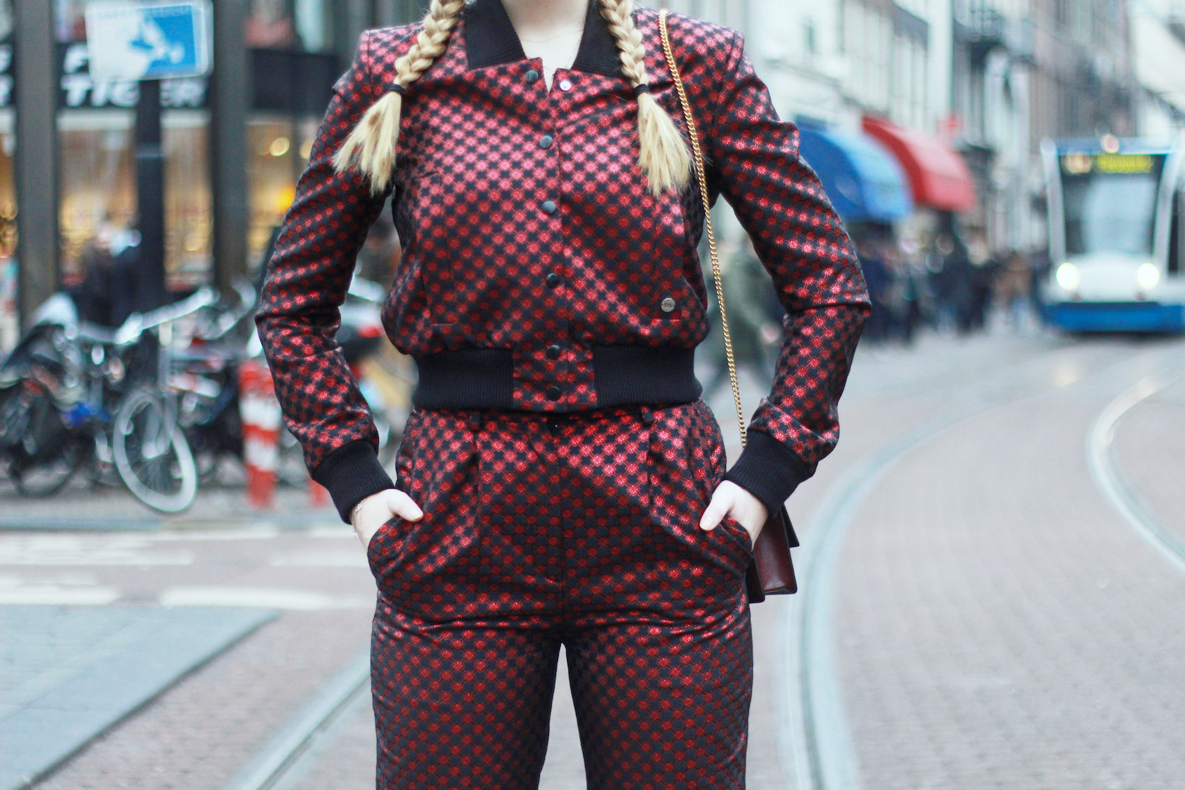 floortjeloves, suit, how to rock prints, how to, SIS, SIS by Spijkers en Spijkers, Spijkers en Spijkers, Feraggio, mulberry, braids