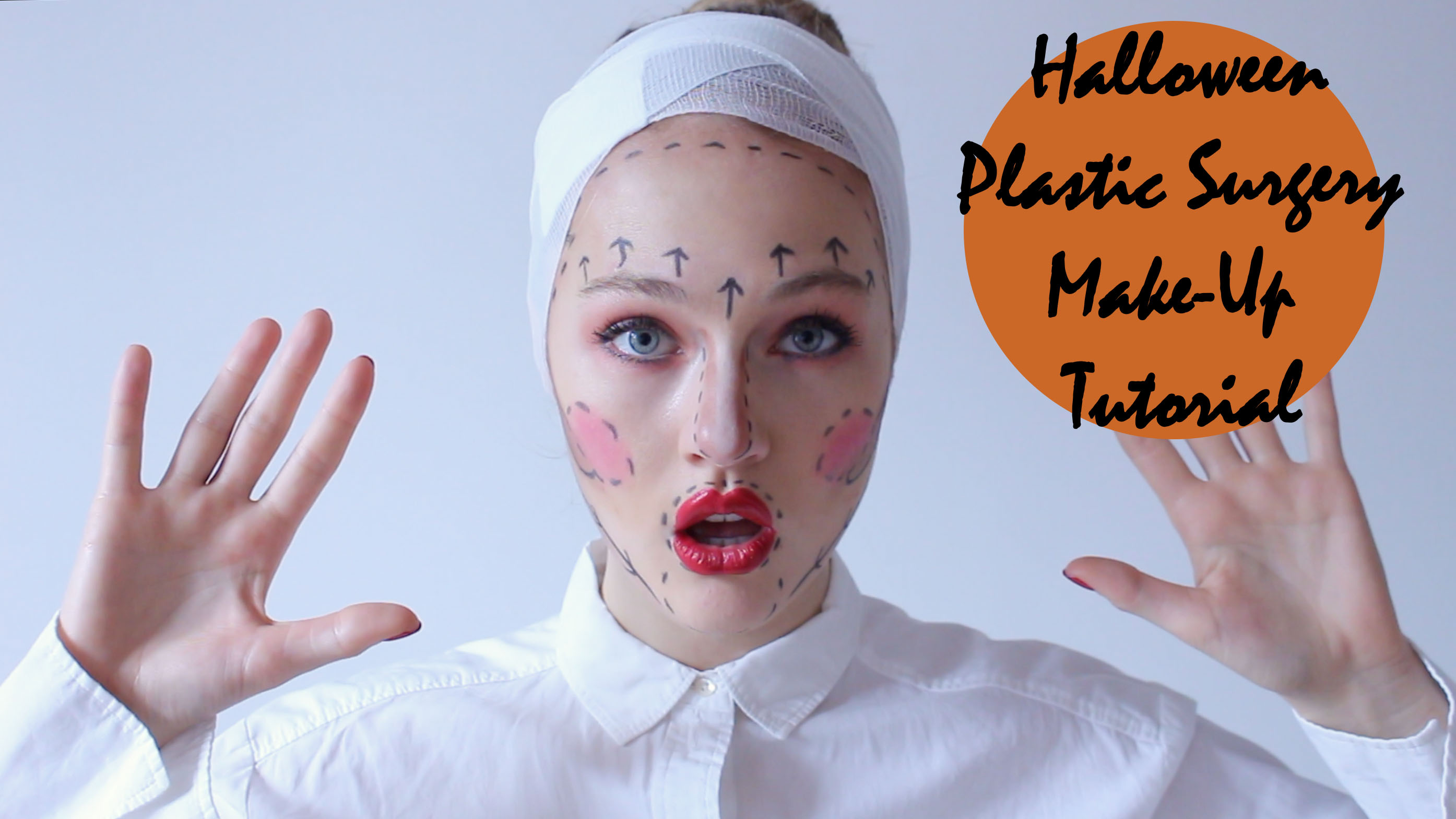 Floortjeloves, halloween, halloween make-up tutorial, halloween tutorial, halloween ideas, halloween plastic surgery make-up, plastic surgery, plastic surgery make-up