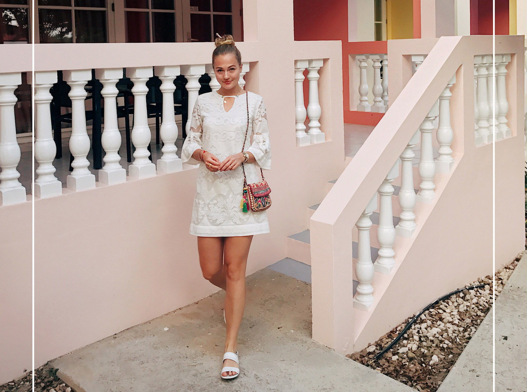 Floortjeloves, anna alcazar, shoesofprey, shoes of prey, all white, curaçao, Curacao, travel