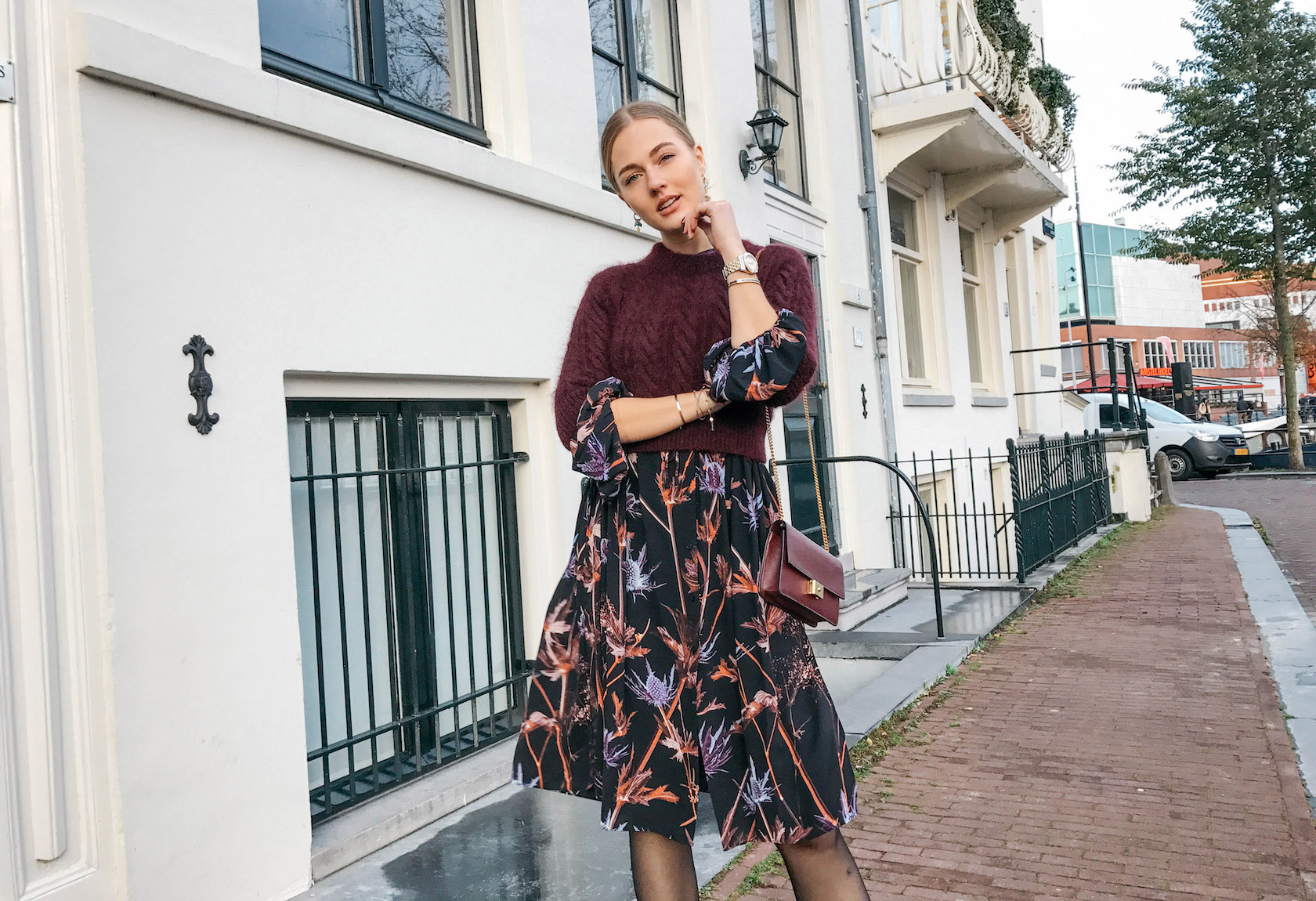 Floortjeloves, cropped sweater, floral, floral print, floral dress, weekday, wolford, H&M, ERDEM, ERDEM X H&M, H&M X ERDEM, river island, mulberry