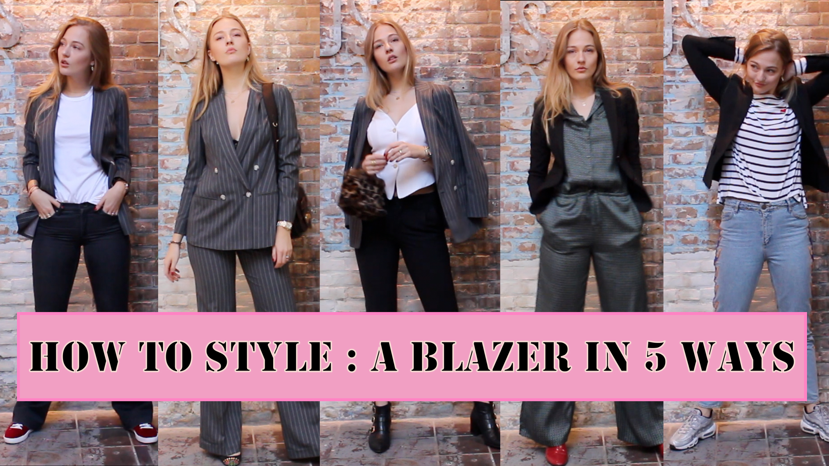 floortjeloves, style, styling, styling video, style video, how to, how to style, how to style a blazer, how to style a blazer in 5 ways, how to wear a blazer, ways to wear a blazer