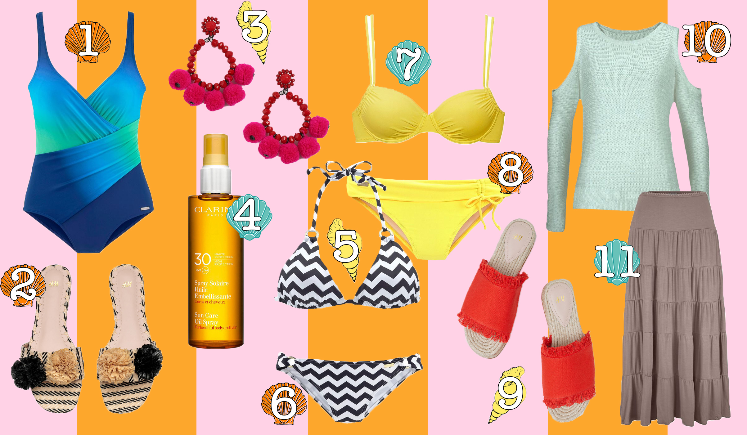 floortjeloves, wishlist, shopping, shop, trends, swimwear, the swimwear guide, swimwear guide, lascana, clarins, H&M, Topshop, bikini, summer shopping