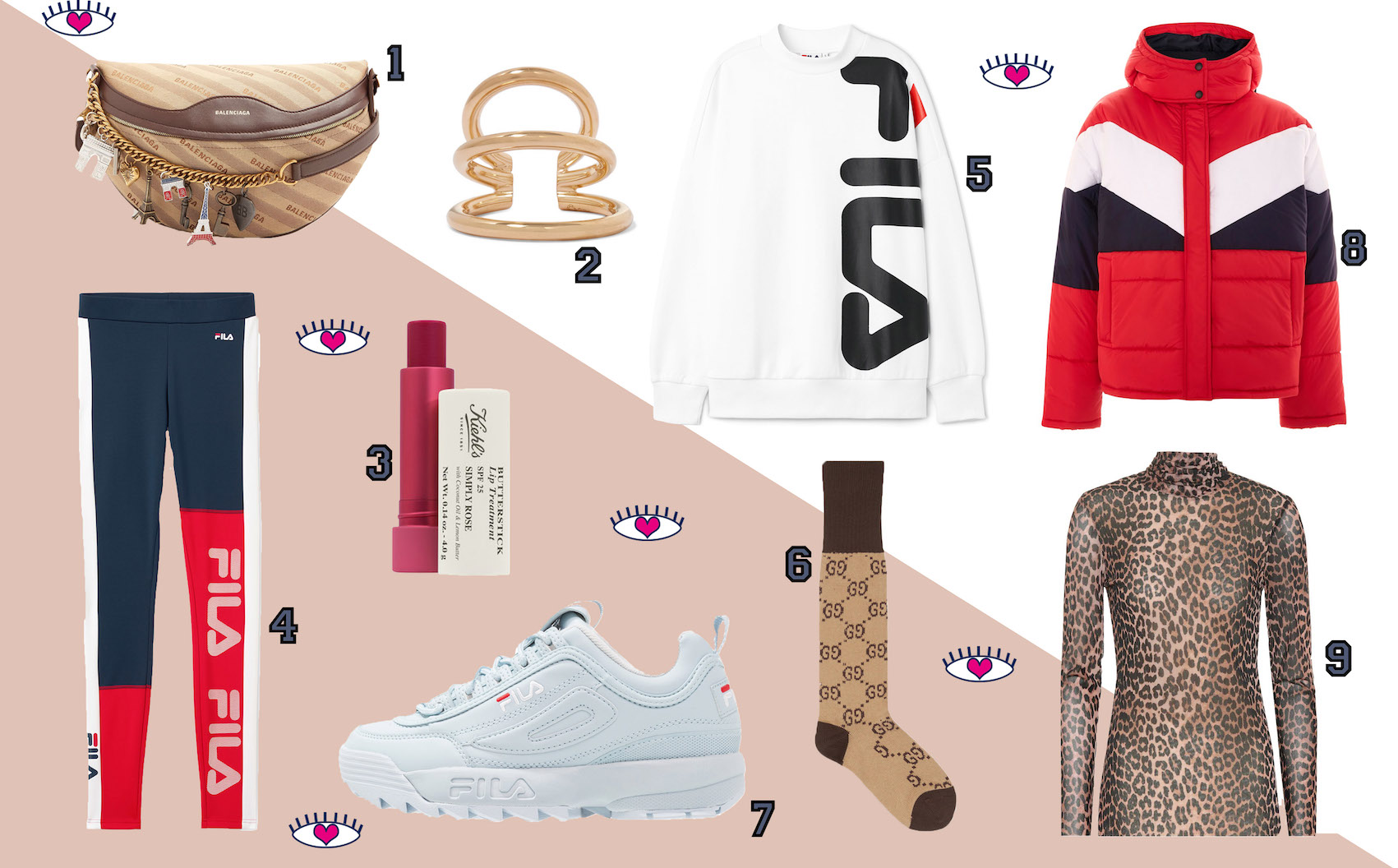 floortjeloves, shop, shopping, wishlist, balenciaga, fila, ganni, gucci, Kiehl's, sporty, sport, let's go sporty, trend, sport trend