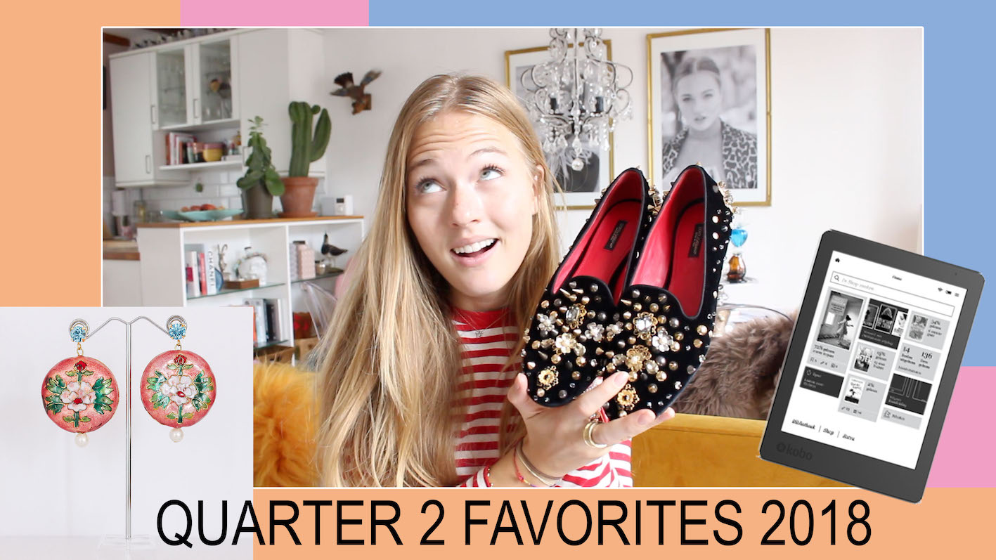 floortjeloves, q2, q2 favorites, quarter 2 favorites, D&G, Valentino, La Mer, Kobo Plus, Kobo e-reader, Tod's, Shiseido
