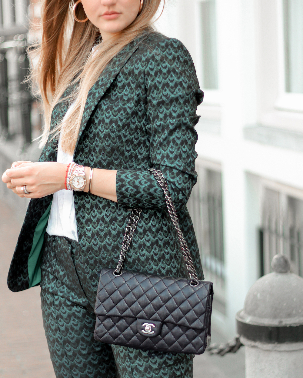 floortjeloves, comma, comma fashion, jacquard suit, the jacquard suit, Chanel, chanel classic, chanel bag, style italy