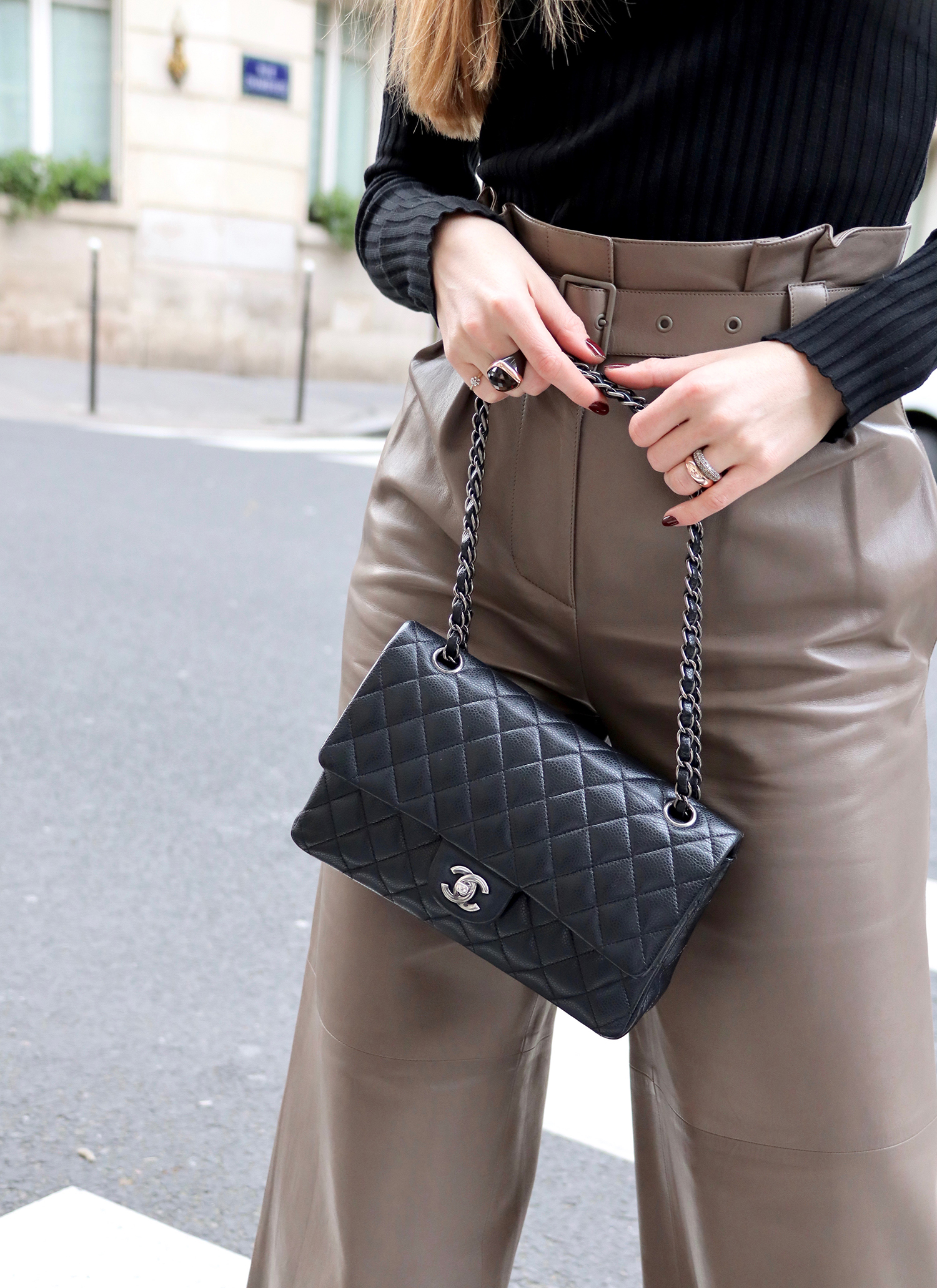 floortjeloves, paris, bally, leather trousers, Chanel, chanel bag, chanel classic, wolford, asos