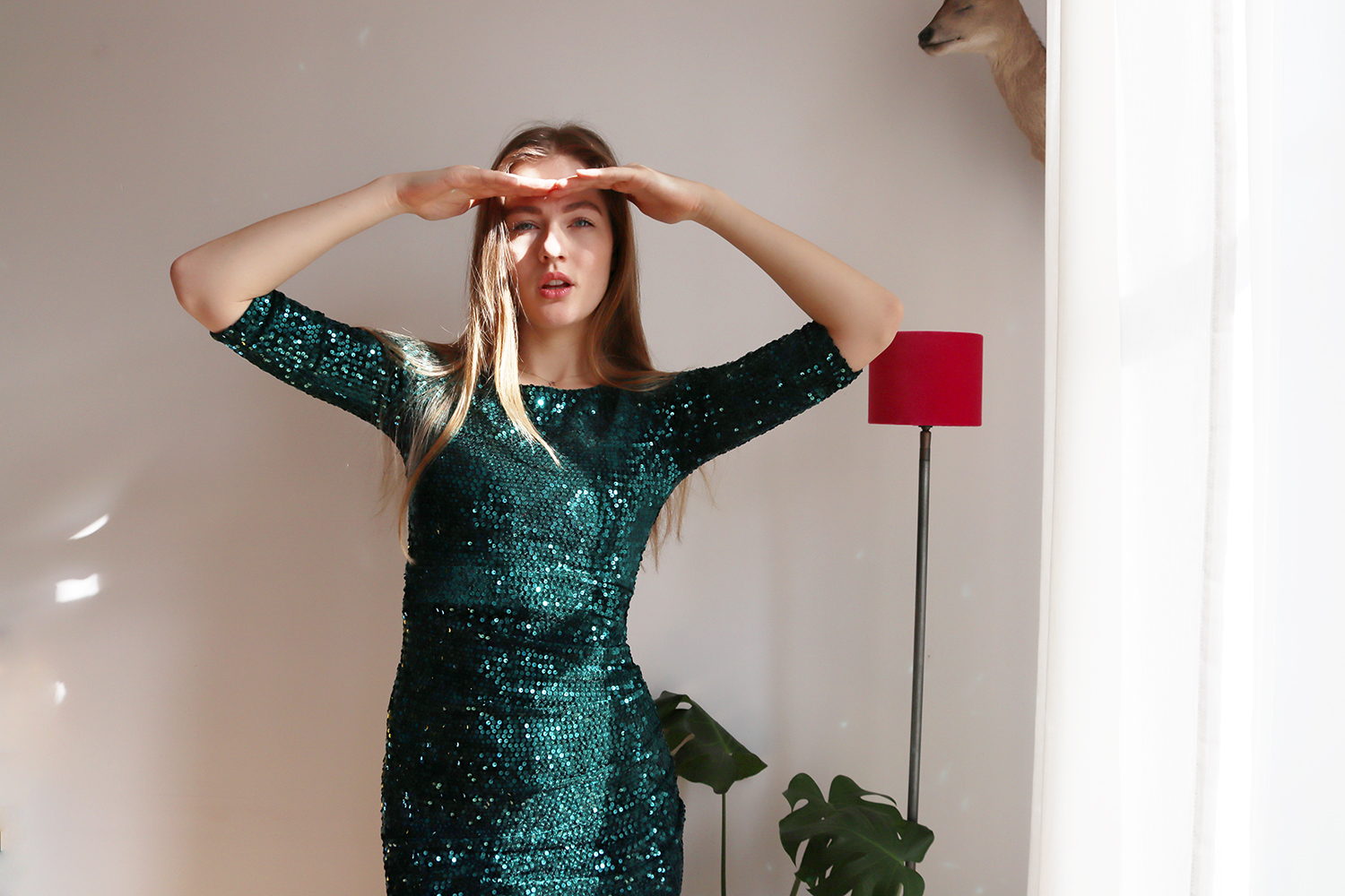 floortjeloves, sustainability, sustainable, green dress, groene jurkjes, topvintage, sequins, sequin dress, party dress, vintage